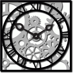roman clock and gears n cogs