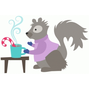 cocoa sipping squirrel