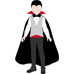 vampire costume for jacob paper doll