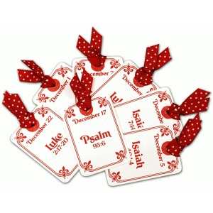 advent scripture cards (bible verses) for christmas