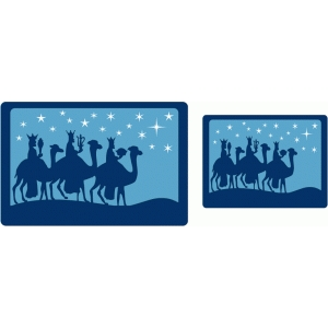 wisemen and guiding star cards