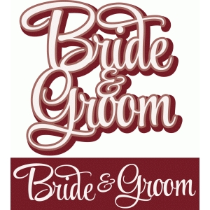 bride & groom layered