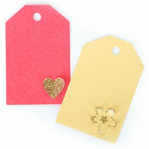 heart and flower tags