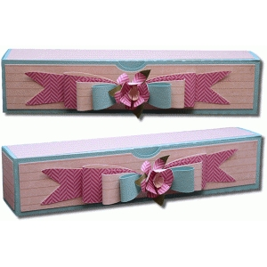 3d rectangle hinged box with bow