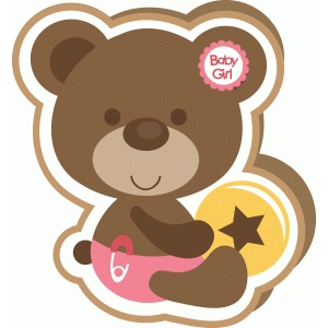 baby girl shape card