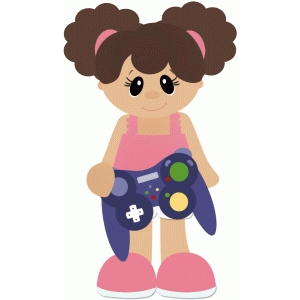 girl holding game controller