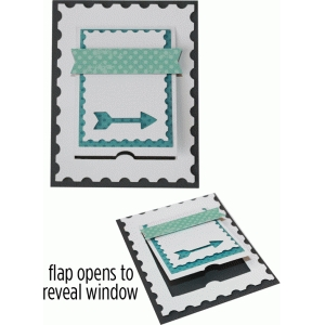 a2 arrow stamp flap card