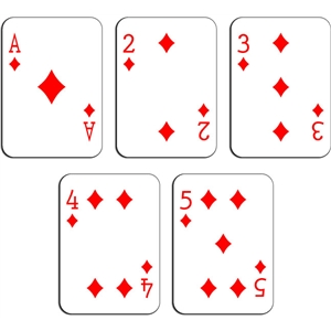 playing cards - diamonds a-5