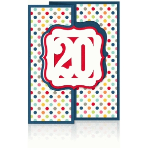 a2 birthday flip/swing card age 20