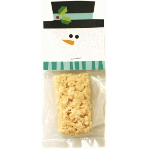 snowman treat bag topper