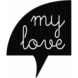 my love thought bubble