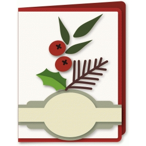berries sprig a2 card