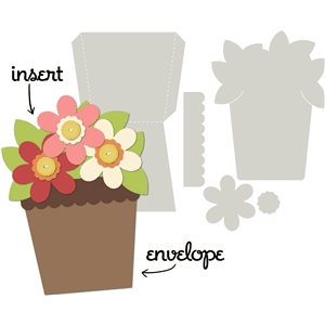card kit flower pot