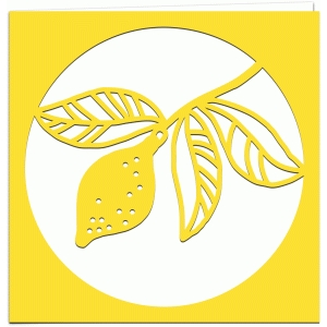 lemons papercut greetings card