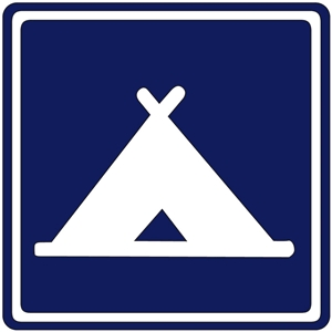 camp site sign