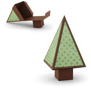 christmas tree favor box