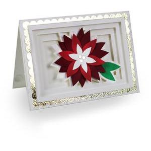 poinsettia shadow box card