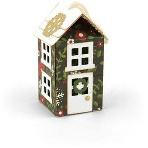 3d house christmas tree ornament