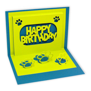 Dog Themed Pop Up Birthday Card
