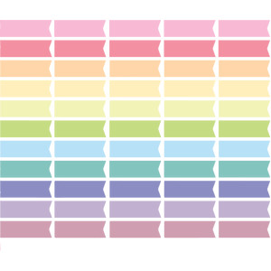 pastel planner page flags