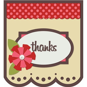 'thanks' card kit