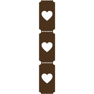 heart ticket border