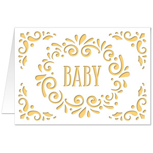 5x7 flourish card  baby