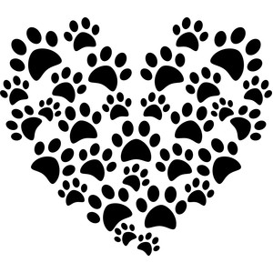 pawprint heart