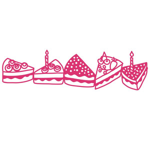 slices of cake border