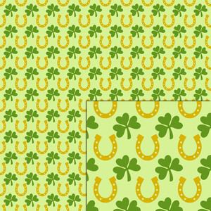 shamrocks horseshoes pattern