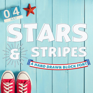 silhouette stars and stripes font