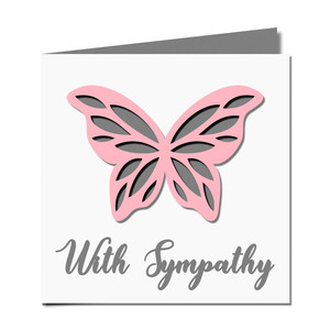 butterfly cutout sympathy card