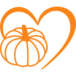 pumpkin lines heart