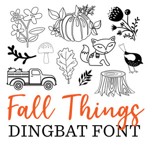 fall things dingbat font