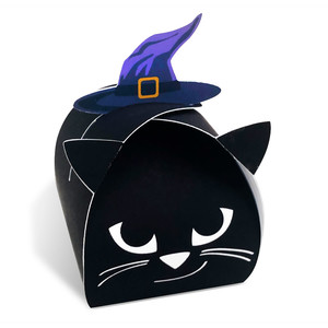 black cat in a hat treat box