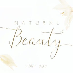 natural beauty font duo