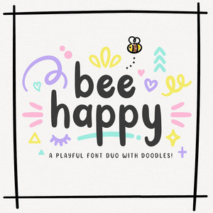bee happy font duo