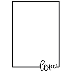 love rectangle frame