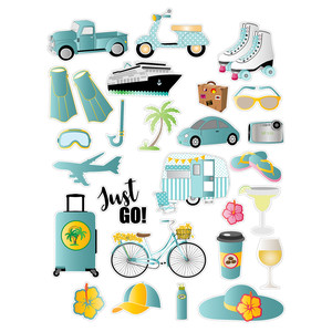 travel transportation planner stickers