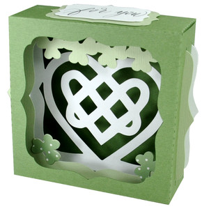 celtic heart gift card box