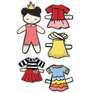 princess charlotte paper doll set