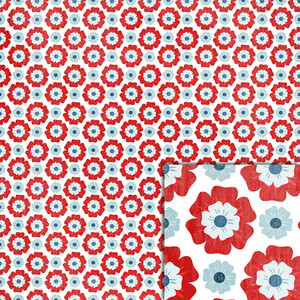 patriotic flowers background paper