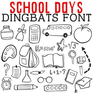 cg school days dingbats