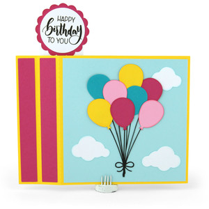 6x6 wiper card birthday balloons