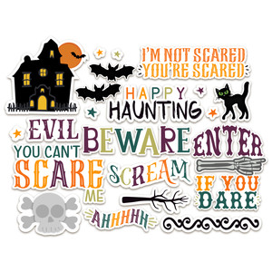 halloween stickers-haunted house