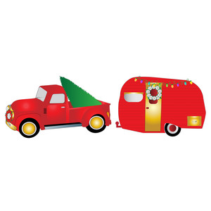 christmas truck and trailer