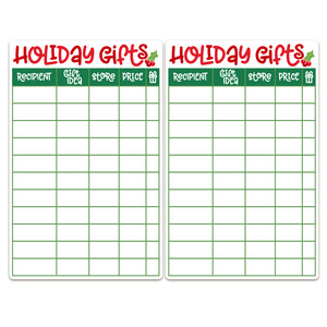 printable holiday gift ideas