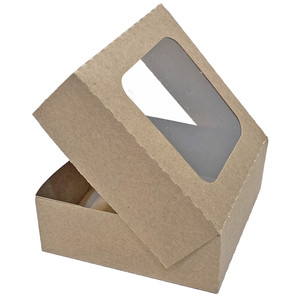 window cookie box with attached lid
