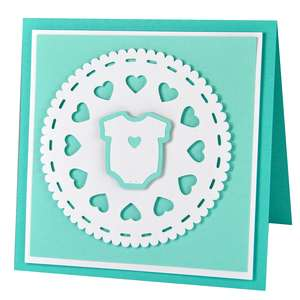 baby doily card