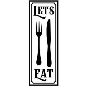 let's eat vertical sign